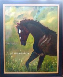 Racing Respite Original Oil Painting
