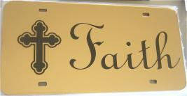 Faith License Plate.