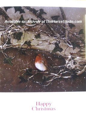 Christmas Card Robin in Snow