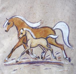 Note Cube Mare and Foal design
