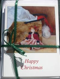Christmas Card Set Christmas Doll
