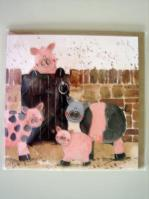 Greeting Card Pigs In Sty