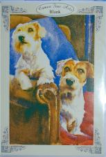 Terrier Dog Greeting Card; Imported from England