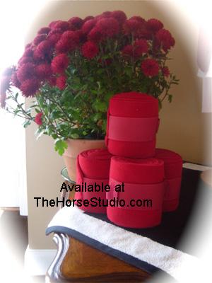 Horse Polo Wraps Red
