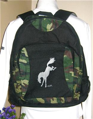 Backpack. Bucking Horse Design.