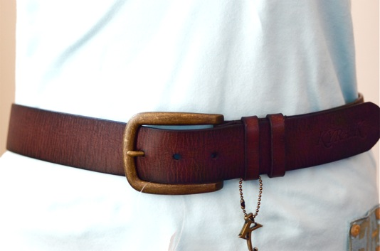 Kyra K. Leather Belt Brown