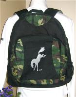 Backpack. Bucking Horse Design.