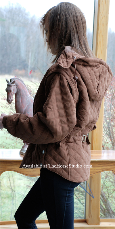 equestrian jacket riding vest combination brown PRI back