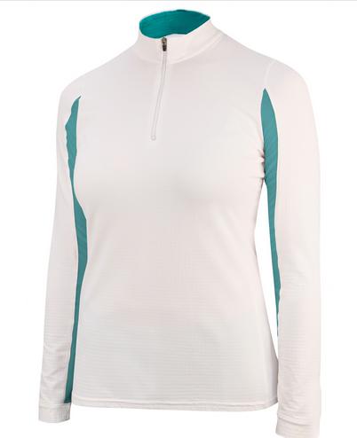 irideon cool down riding shirt white lagoon long sleeve