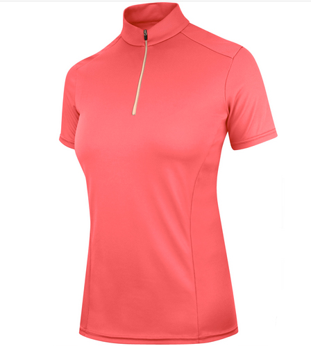 irideon ice fil riding shirt coral short sleeve