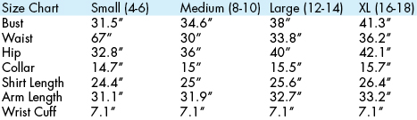 kastel denmark size chart