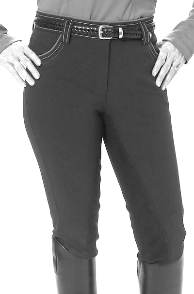 kentucky angelina city breeches black front view