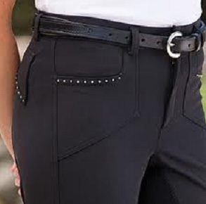 Riding Breech Kentucky City Black/Crystal