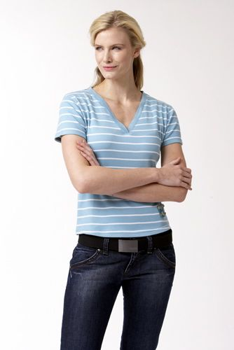 Kyra K. Gun Fitted Cotton top mineral blue