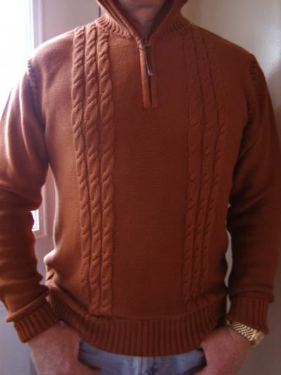 Kyra K. Mens Cable Knit Sweater