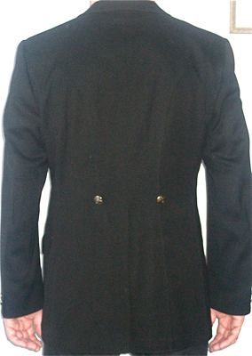 mens pikeur dressage show coat back view