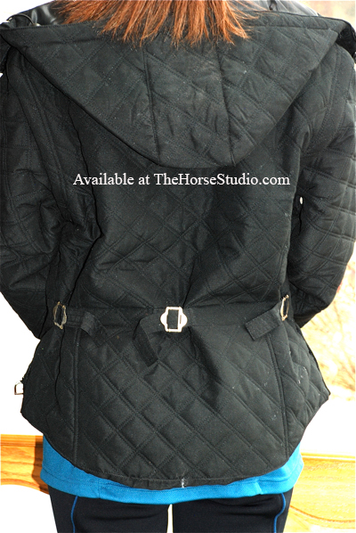 riding jacket equestrian vest combo black PRI back