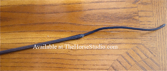dressage whip navy spiral detail PRI